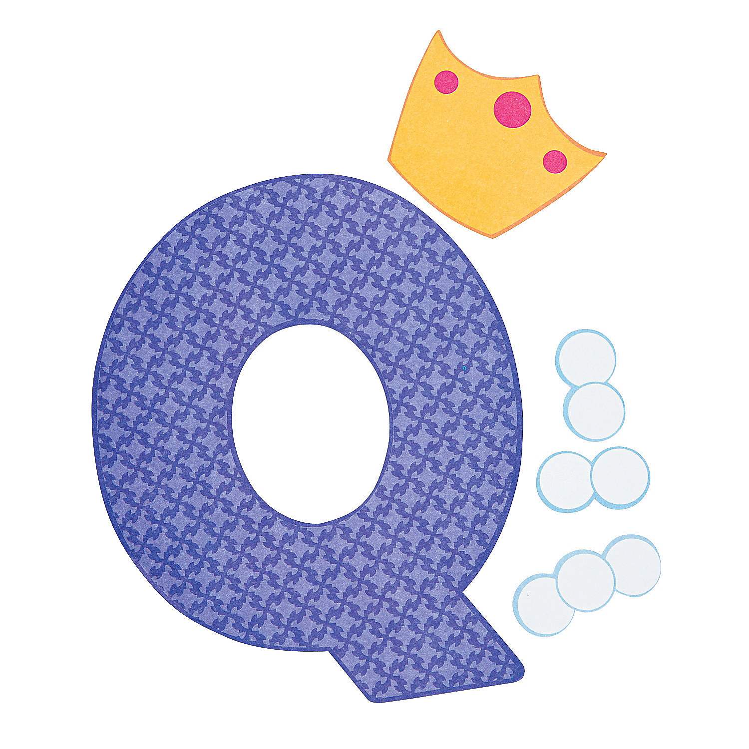 Q Is For Queens Letter Q Craft Kit Oriental Trading