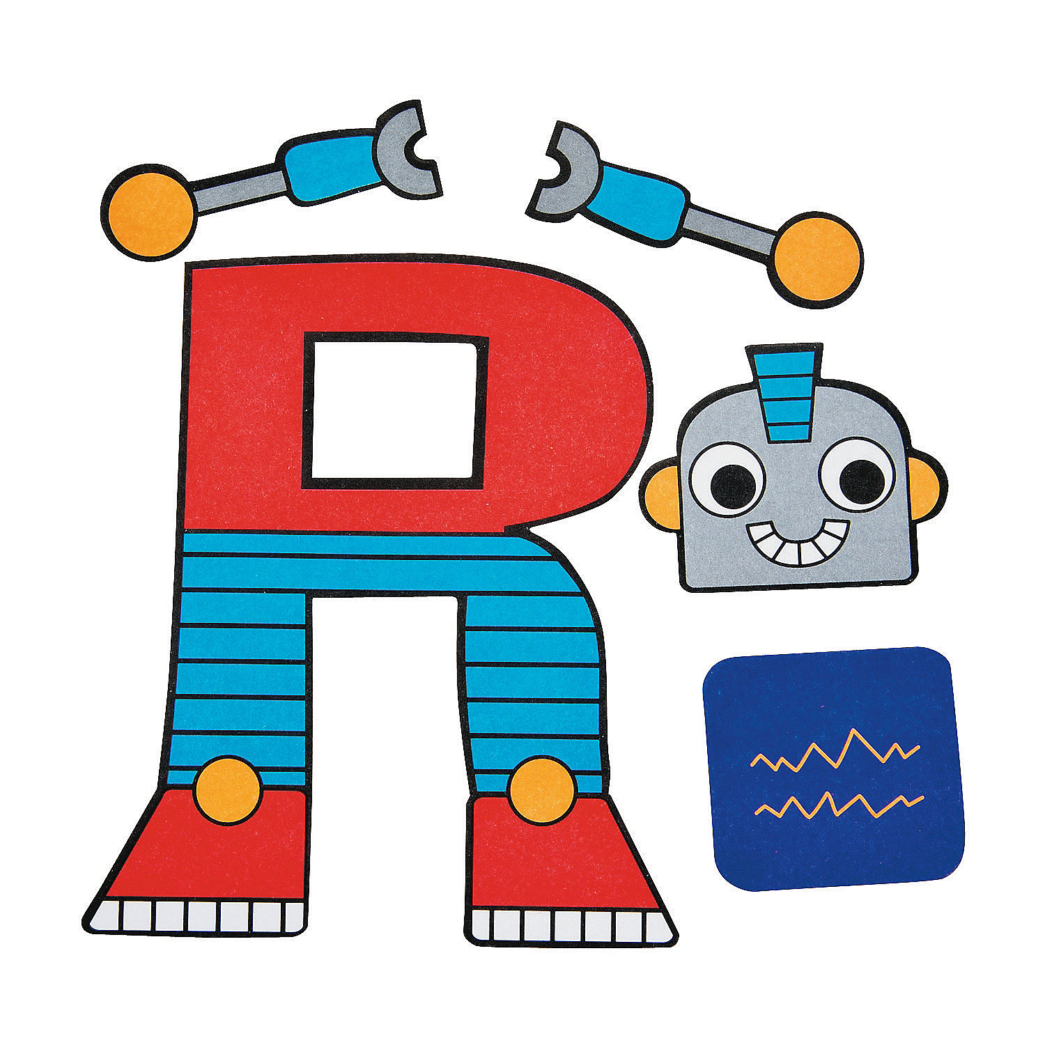 is for robots letter r craft kit in 48 8079 r is for robots letter r