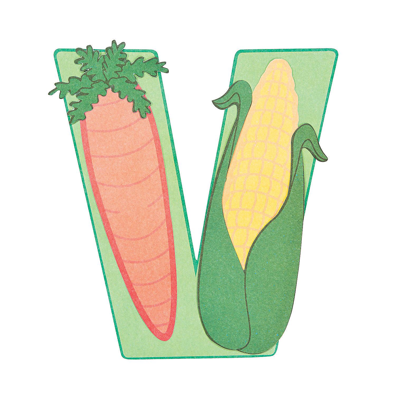 V is for vegetables letter v craft kit oriental trading for Craft kits for preschoolers