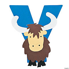 """Y Is For Yaks"" Letter Y Craft Kit"