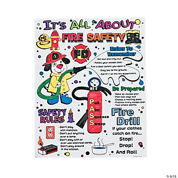 "Color Your Own ""It's All About Fire Safety"" Posters"