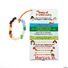 Thanksgiving Charm Bracelet With Card Craft Kit