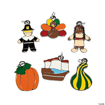 Enamel Thanksgiving Charms