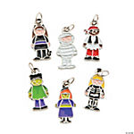 Halloween Costume Kid Enamel Charms