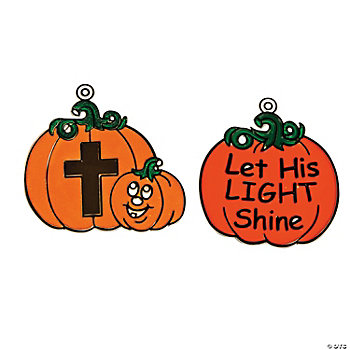 Christian Pumpkin Sun Catchers
