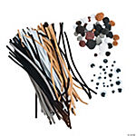 Animal Pom-Poms & Chenille Stems Pack