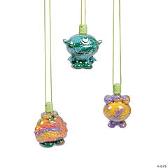 Halloween Monster Sand Art Bottle Necklaces