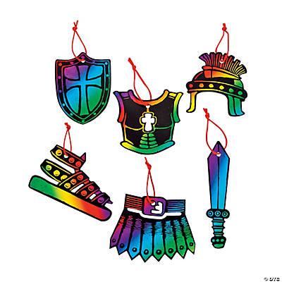 "Magic Color Scratch ""Armor of God"" Ornaments"