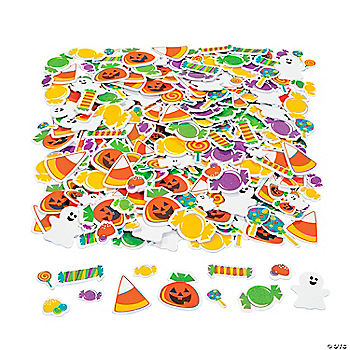 Tricks Or Treats Foam Stickers Oriental Trading