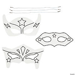Color Your Own Superhero Masks