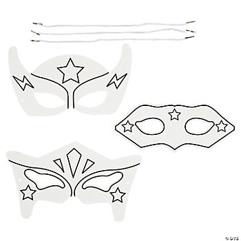 Color Your Own Super Hero Masks