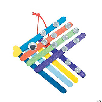 Color Fish Craft Sticks Craft Kit