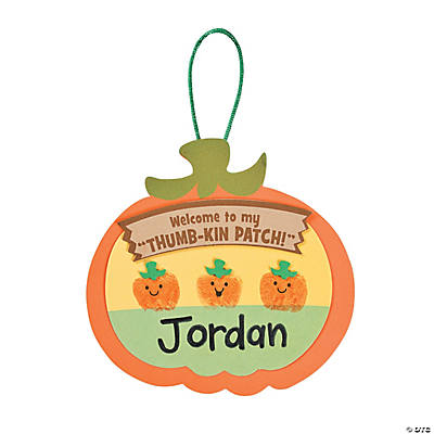 Thumbprint Pumpkin Patch Craft Kit