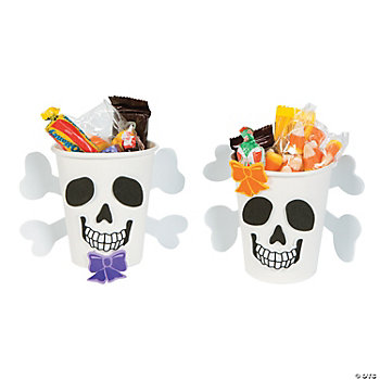 Skull Cup Treat Holder Craft Kit