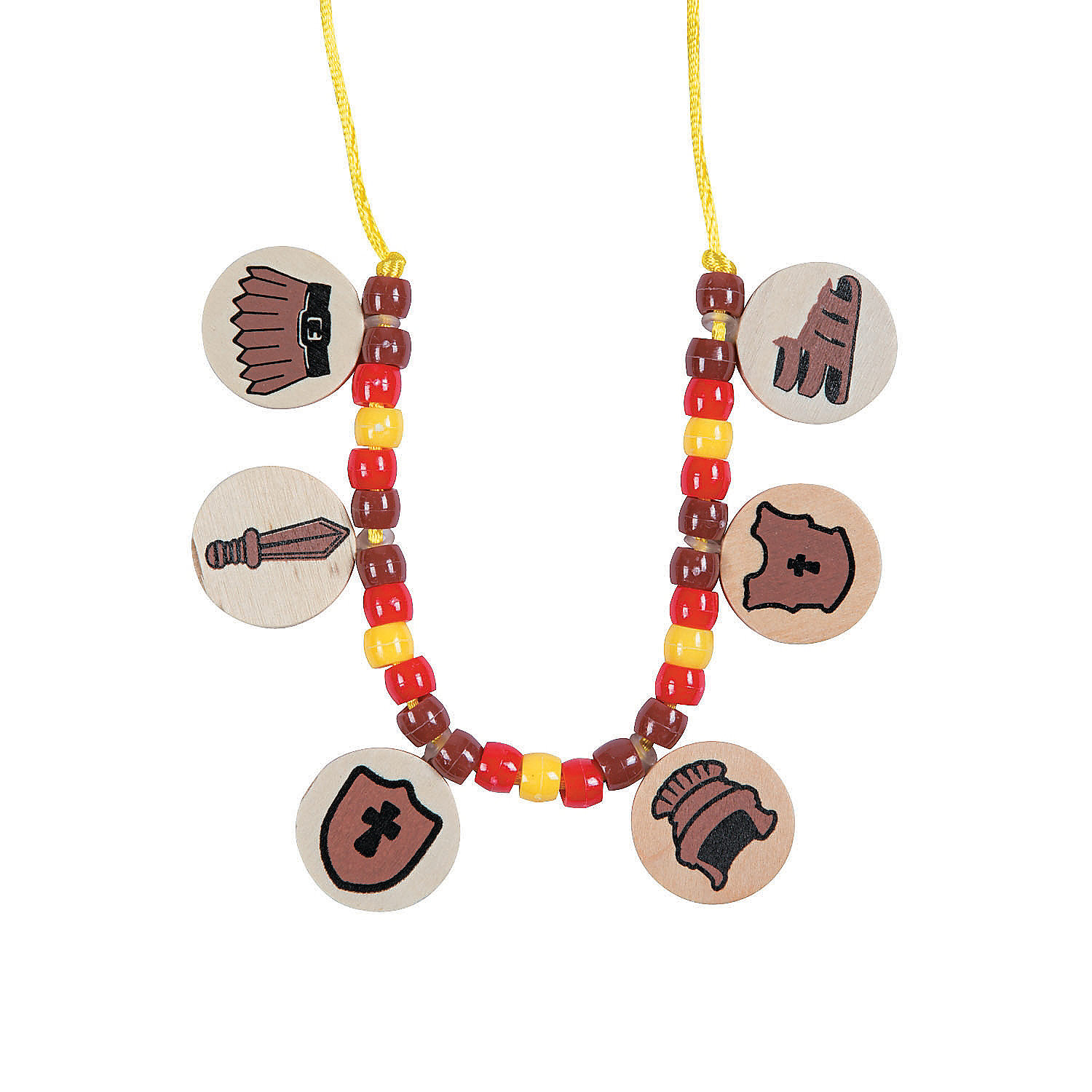 """""""Armor of God"""" Necklace Craft Kit - Oriental Trading"""