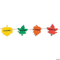 Thankful Leaf Banner Craft Kit