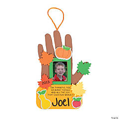 2012 Thanksgiving Handprint Photo Frame Keepsake Craft Kit
