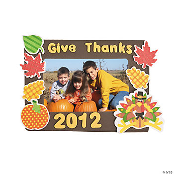 2012 Thanksgiving Photo Frame Magnet Craft Kit