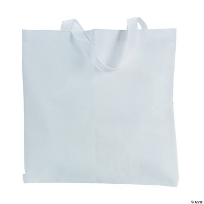 DIY White Tote Bags - 12 pcs.