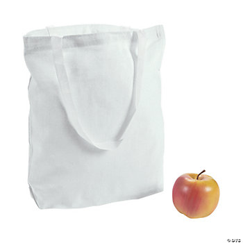 DIY White Canvas Bags