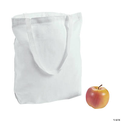 DIY White Canvas Bags - 48 pcs.