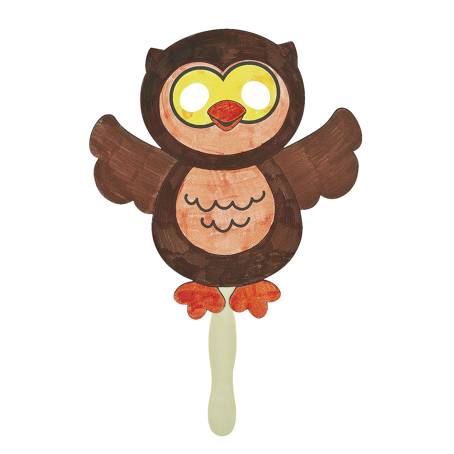 Color your own owl mask craft kit in 48 8279 color your own owl mask