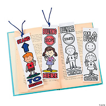 Color Your Own Anti-Bullying Bookmarks