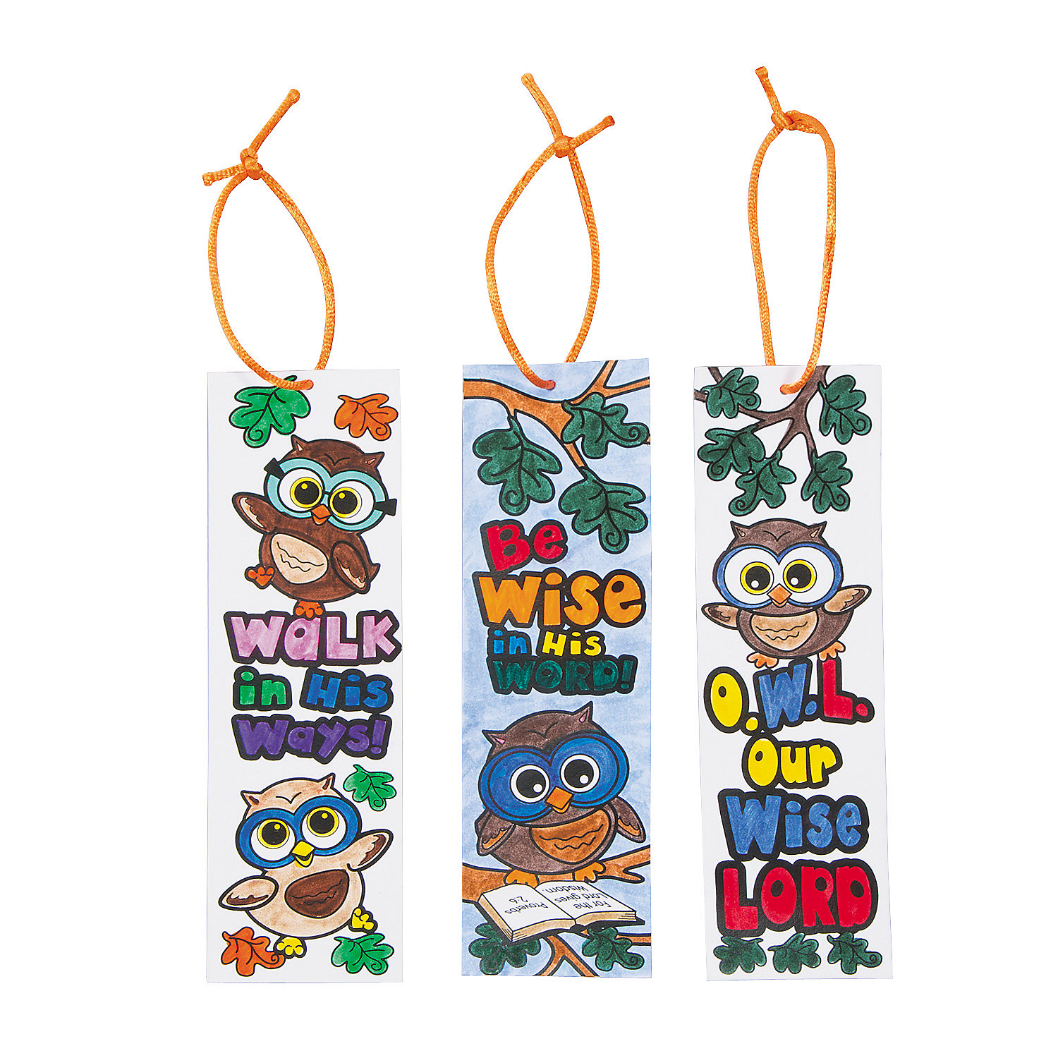 Color your own wise owl bookmarks oriental trading discontinued