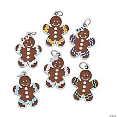 Gingerbread Enamel Charms
