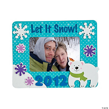 2012 Winter Photo Frame Magnet Craft Kit