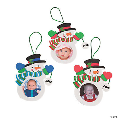 2013 Snowman Photo Christmas Ornament Craft Kit