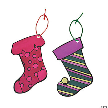 Color Your Own Christmas Stocking Ornaments