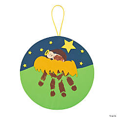 Jesus in the Manger Handprint Craft Kit