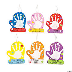 Mitten Handprint Christmas Ornament Craft Kit