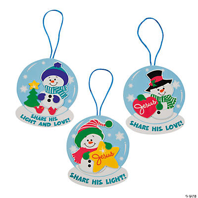 Religious Snowman Ornament Craft Kit
