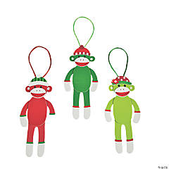 Foam Christmas Sock Monkey Christmas Ornament Craft Kit