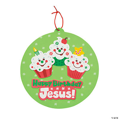 """Happy Birthday Jesus!"" Cupcake Sign Craft Kit"