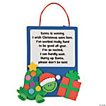Christmas Turtle Sign Craft Kit