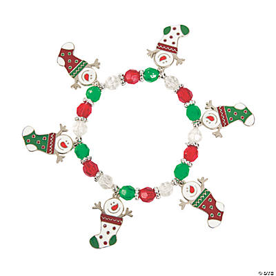 Snowman Stocking Charm Bracelet Craft Kit