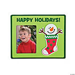 Snowman Stocking Photo Frame Magnet Craft Kit