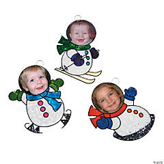 Sun Catcher Snowman Photo Frame Ornaments