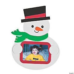Snowman Holding Photo Frame Magnet Craft Kit