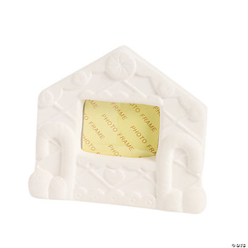 Color Your Own Gingerbread House Ceramic Photo Frames