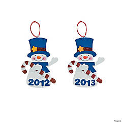 """2012"" Snowman Christmas Ornament Craft Kit"