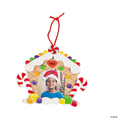 2012 Gingerbread House Picture Frame Ornament Craft Kit