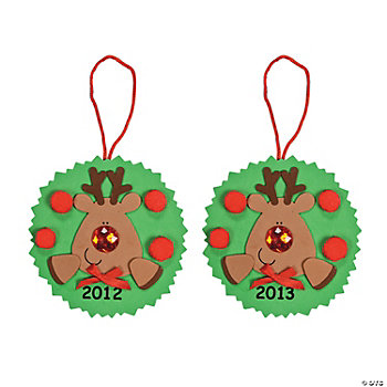 """2012"" Reindeer Ornament Craft Kit"