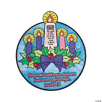 Color Your Own Advent Wheel