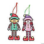 Color Your Own Christmas Elf Ornaments