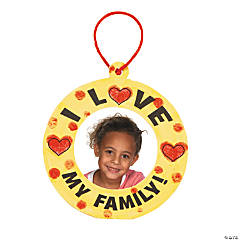 """I Love My Family"" Thumbprint Ornament Craft Kit"