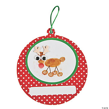 Thumbprint Reindeer Ornament Craft Kit